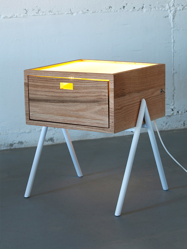 Misko - Table/Lamp Combination by Haim Evgi