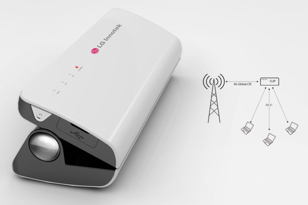 CLIP 4G Portable Hotspot Device by Kihyun Jeong for LG Innotek