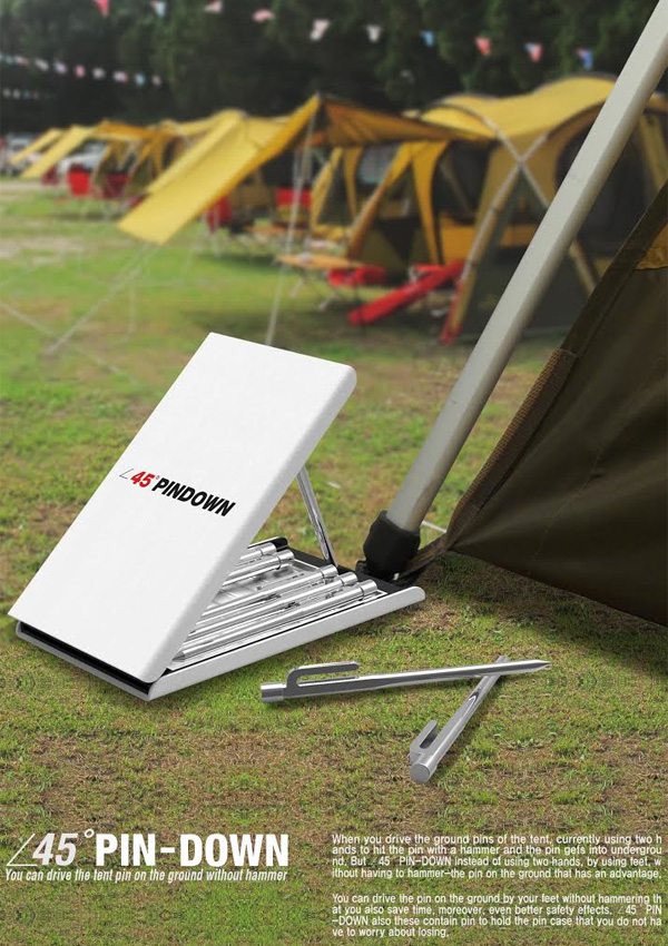 45 degree PIN-DOWN - Foot Pedal for Tent Pin Setting by Jeon Youngwon & Jeong Eunji