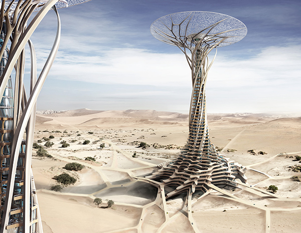 Sand Babel - Solar-Powered 3D Printing Tower by Qiu Song, Kang Pengfei, Bai Ying, Ren Nuoya, & Guo Shen