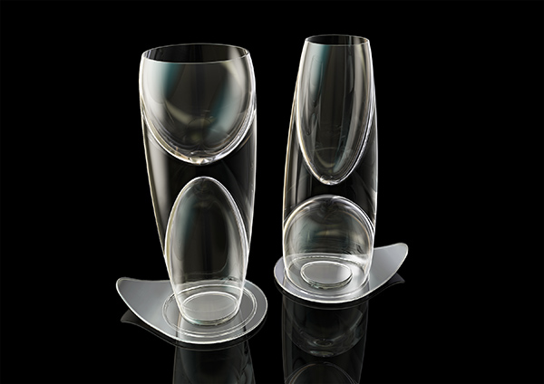 Doublet - Wine Glass by Stefan Burlacu