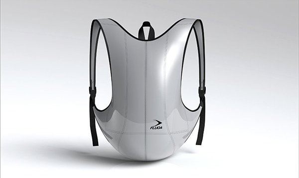 Fluoa Fusion Silver Light Backpack by Jerome Olivet