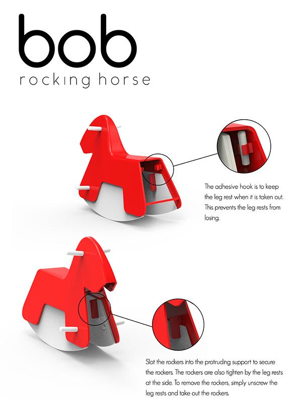 Bob - Minimalist Rocking Horse by Yong Wei Fang