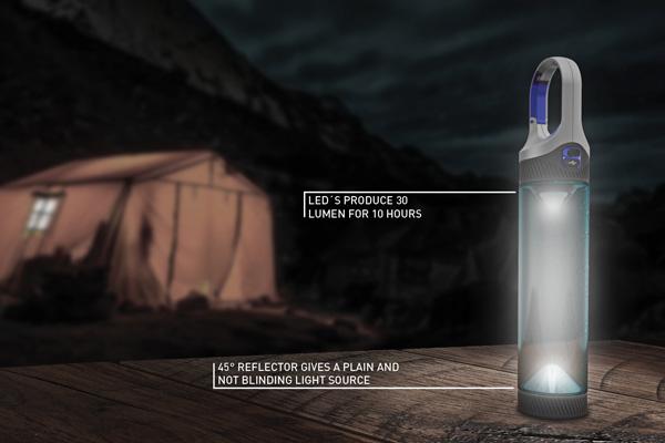 Water Bottle Light Bottlelight Yanko Design