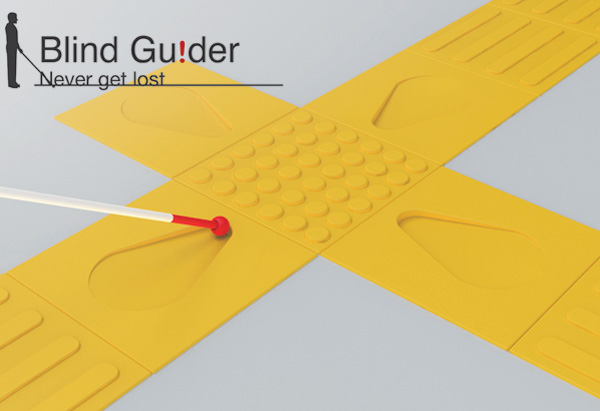Blind Guider – Guiding Bricks for Sight Impaired by Jang Cheng, Hui-Chuan Ma, Chih-Hao Wang and Yin-Kai Li