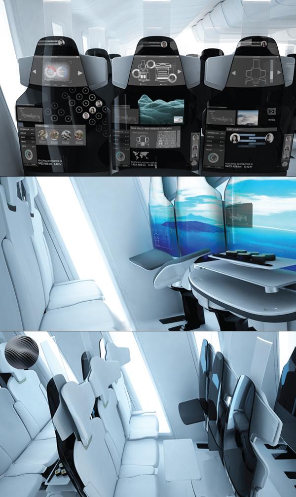 智能的飞机座椅设计