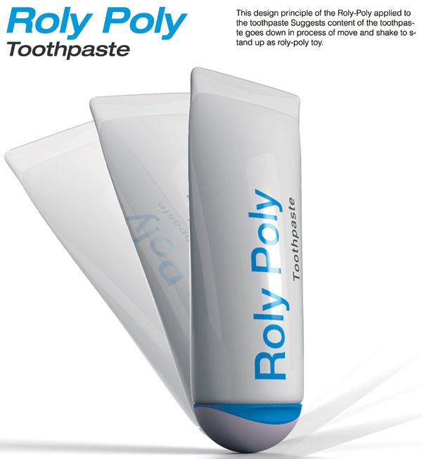 Roly-Poly Toothpaste by Jung ho Kang & Hyun woo Kim