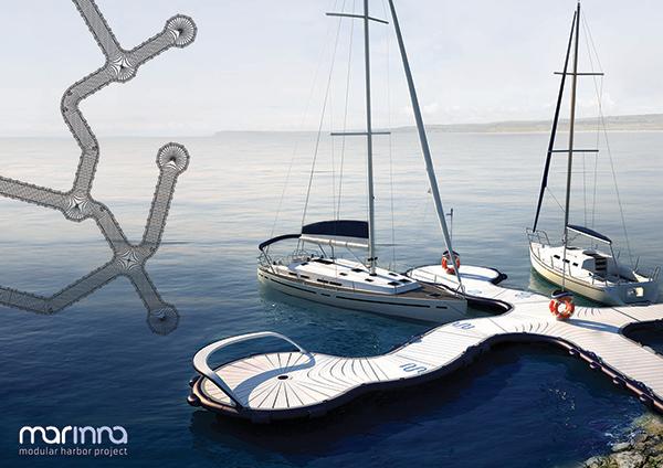 Marinna - Modular Boat Docking System by Dominika Drezner