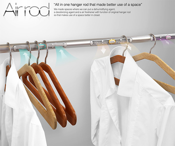 Dehumidifying – Air Rod Hanger System with Dehumidifying, Deodorizing and Air Freshener by Gwang Chae Jung & Hansung