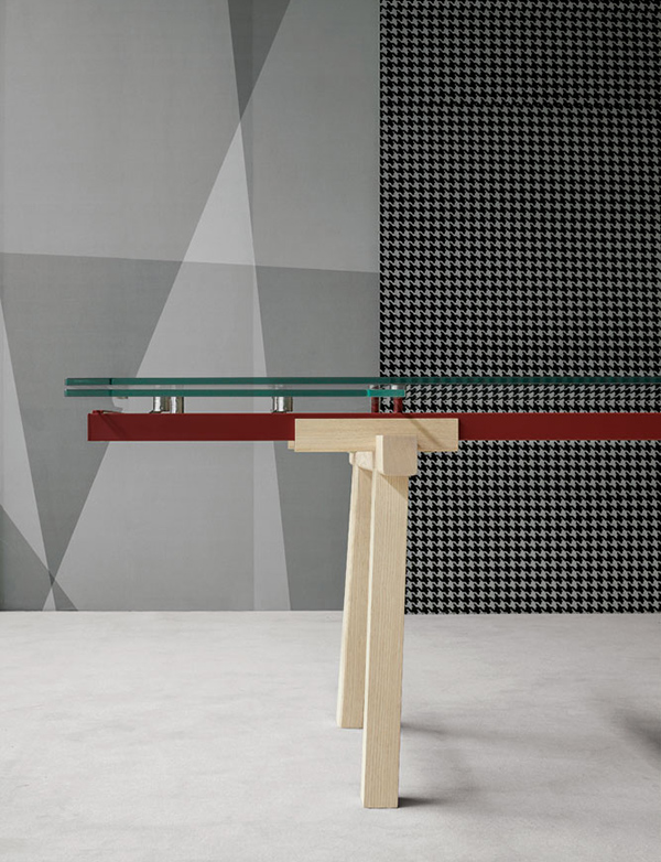 TRACKS - Extendable Table for BONALDO by Alain Gilles
