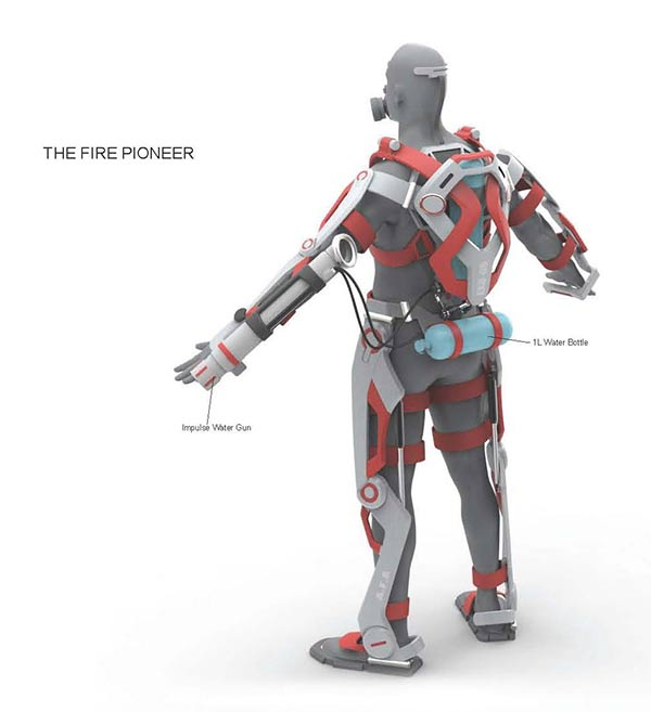 The Iron Man Of Firefighting Yanko Design