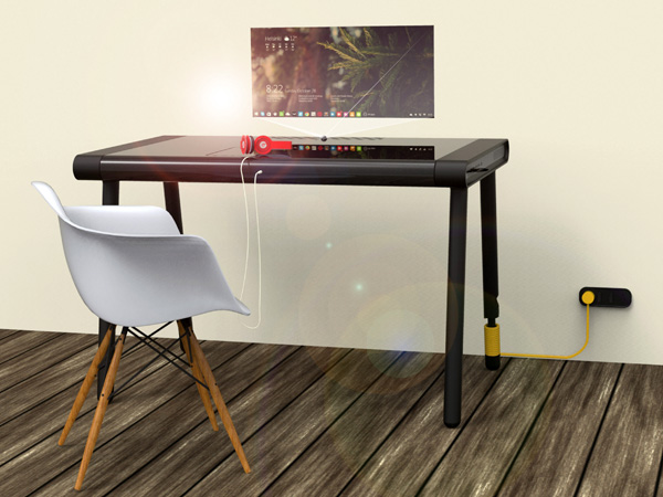 C-Walker Concept Table by Nithin V Antony