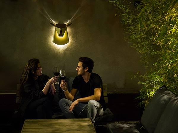 Popup Lighting - Deer Head Light Fixture by Chen Bikovski