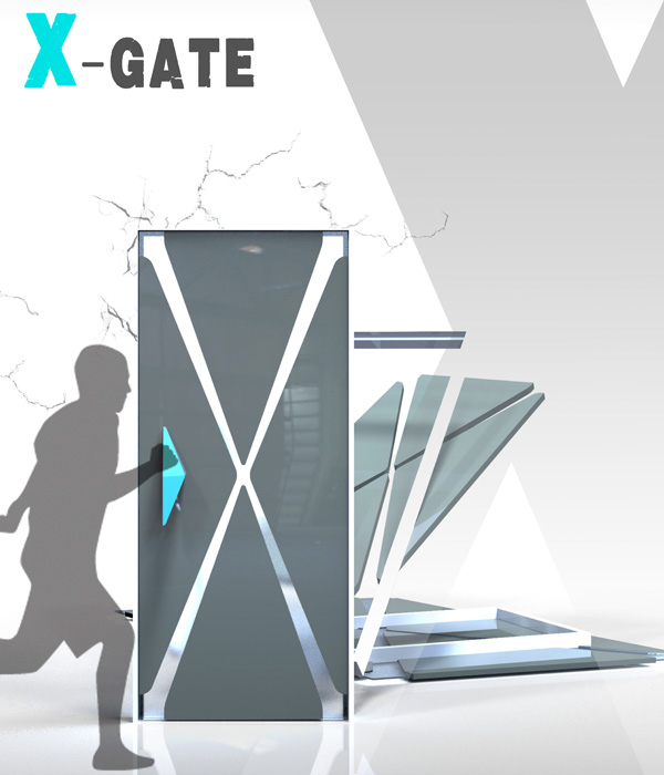 X-gate – Earthquake Proof Door by Ying-Hsuan Lee