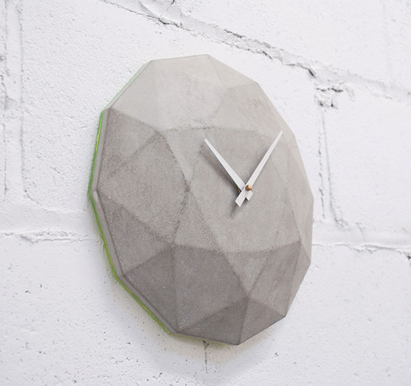 Cairo Star Concrete Clock by theNDC