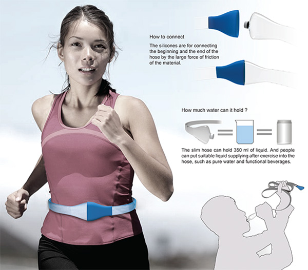 Annulus – Water Bottle Belt by Yuan Peizhuo & Jin Huijian