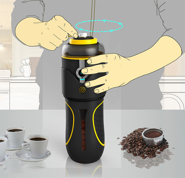 Hand-cranked Coffee Machine