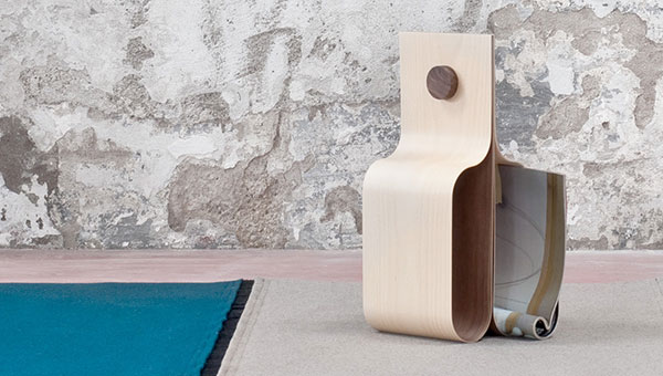 Incurva - Wine/Magazine Rack by Formabilio