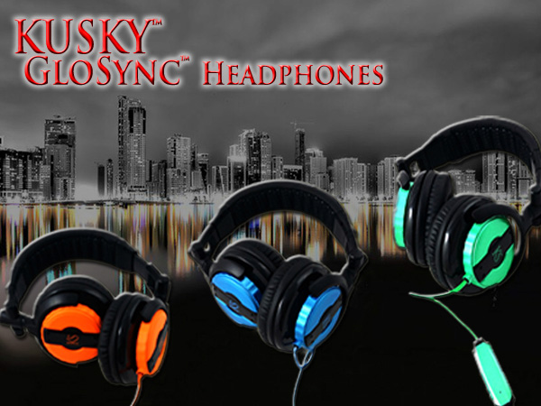 Kusky Electroluminescent GloSync Headphones by KS Trend