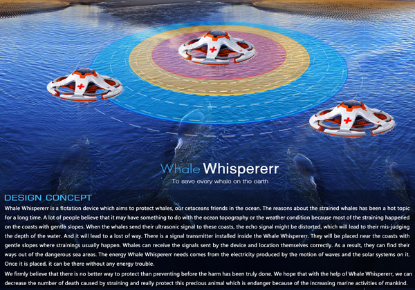 Whale Whispererr – Floatation Device To Help Stranded Whales by Ye Haoyu, Gu Xin, Shao Dandan and Ye Zhuoqun