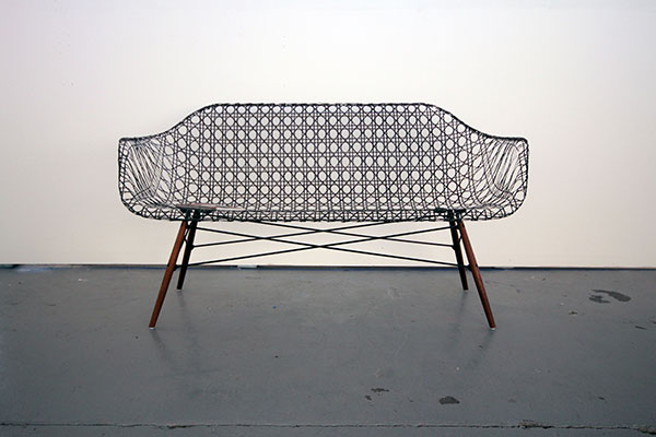 Carbon Fiber Eames Sofa by Matthew Strong