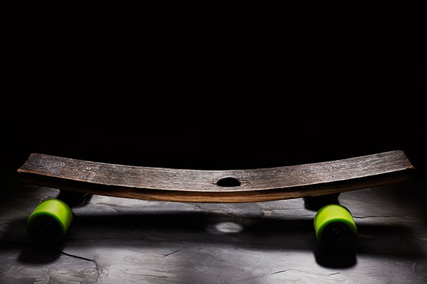 Reclaimed Bourbon Barrel Skateboards by Hepcat