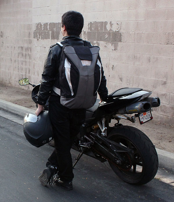MEDA - Motorcycle Backpack by Angela Wang