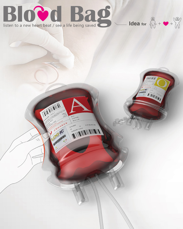 Blood Bag Packaging Design by Ni-Hsin Chang