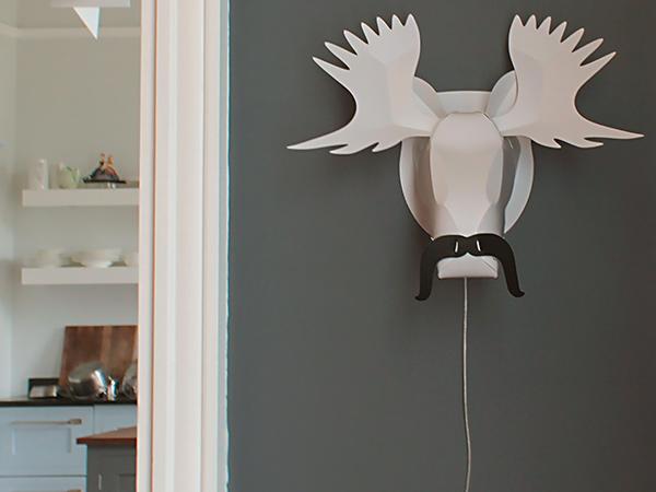 metal deer mount sculpture bespokebug