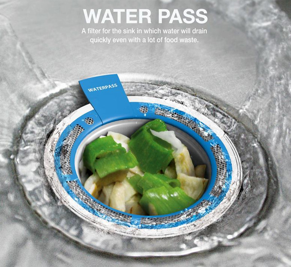 Water Pass – Kitchen Sink Drain by Seun Gho Choi