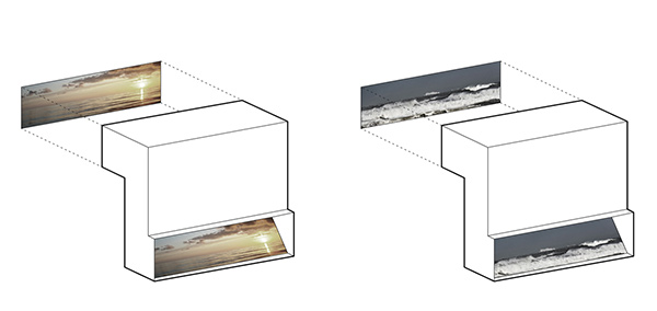 معماری سرویس بهداشتی ، آینه در معماری
