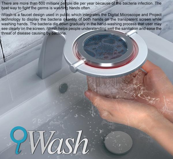 iWash – Bathroom Washbasin Faucet by Yan-Jang Cheng, Mu-Chern Fong, Hui-Chuan Ma & Pei-Chih Deng