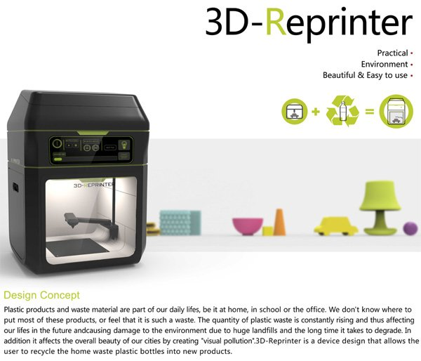 3d printer reversed yanko design 3d printer design software