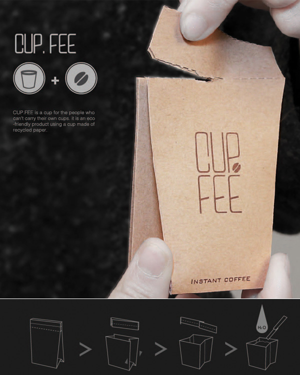 CUP.FEE – Coffee Cup Packaging Design by Jo Sae Bom and Jeong Lan