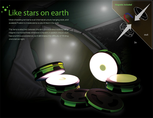 Like Stars on Earth – Camping Lamps by Yunjo Yu and Seonghyun Kim
