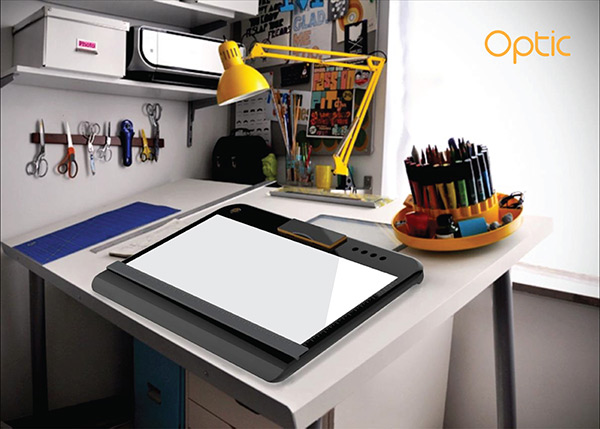 Optic - Portable Tracing and Light Table by Pranali Pradip Linge