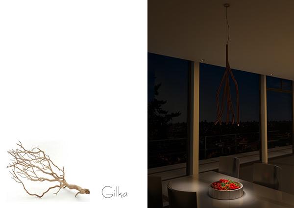 Gilka - Pendant Lamp by Volodymyr Karalyus