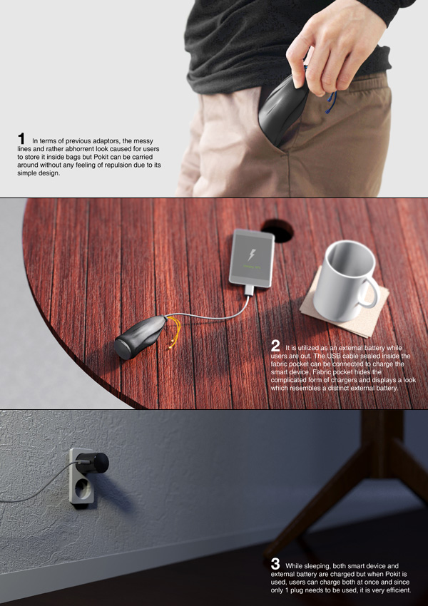 Pokit - Smartphone Charger Adaptor, External Battery and Storage Pocket by ACE Group, iFace - Kim Jinseok, Jang Junyoung, Jeon Seyong, Koo Yoori, Park Jungjun & Shin Jungwon