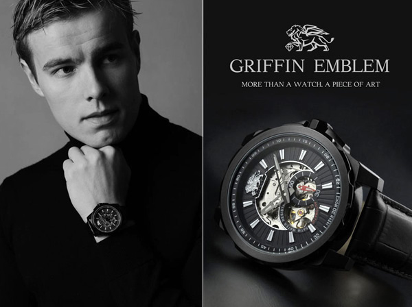 Griffin Emblem Watch by Alain Recuzein