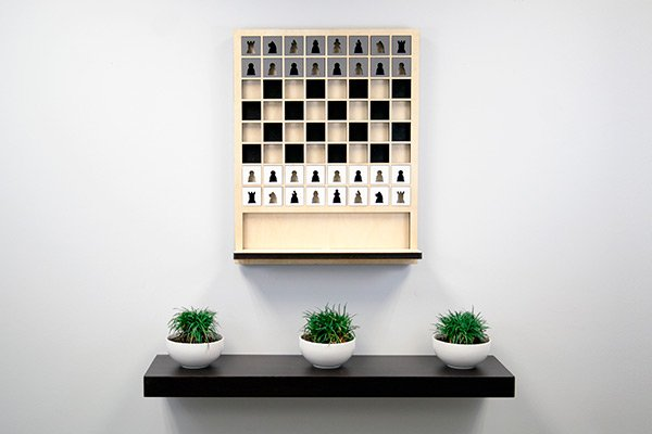 Mate - Wall Hanging Chess Board by Sean D. Connell