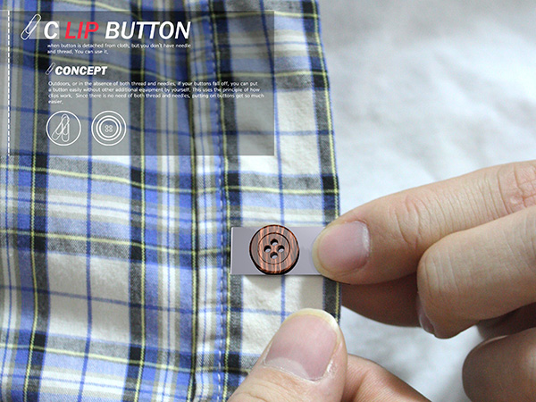 Clip Button – Shirt Button Redesign by Yeon Hee Jung & Kyung Soo Kim
