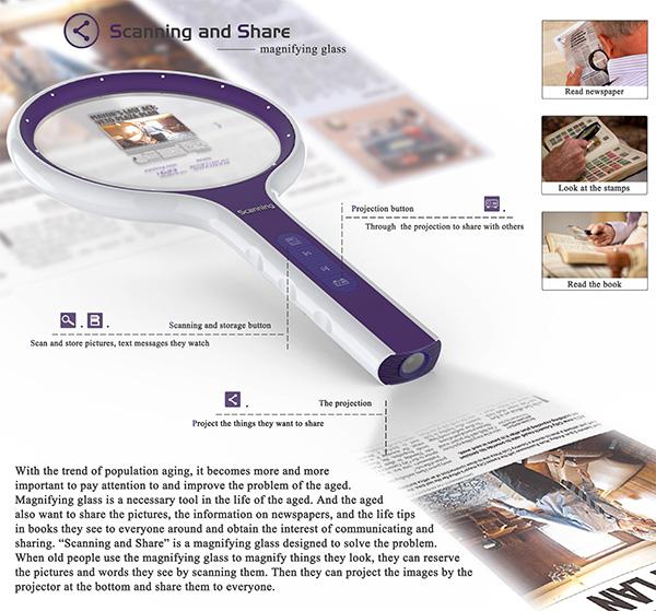 Scanning and Share – Magnifying Glass by Xuefei Liu, Di Fang, Chengcheng Gu and Desheng Si
