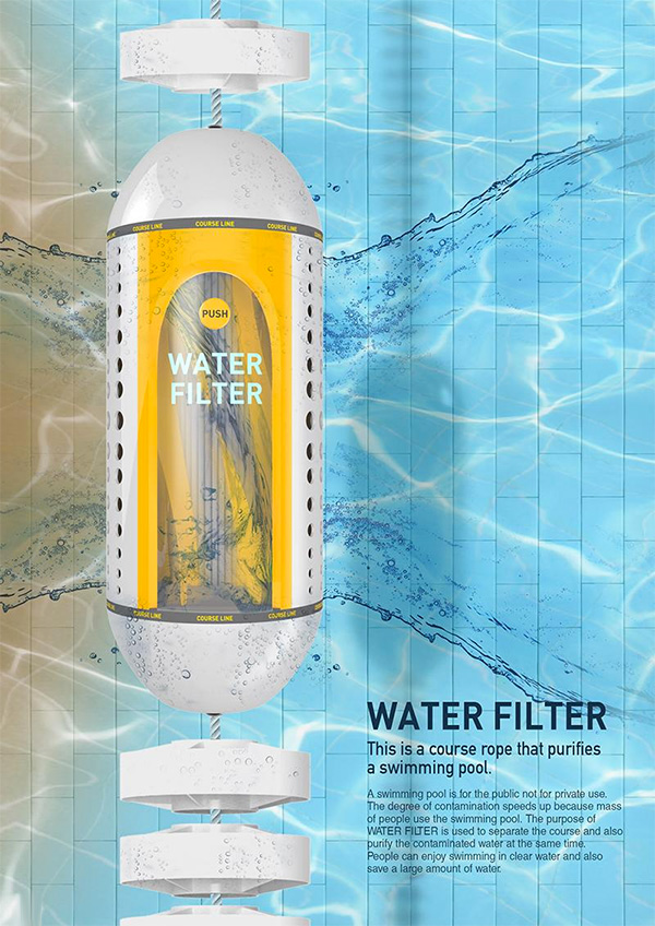 Water Filter for Swimming Pools by Eun-ji Jeong and Tae-young Choi