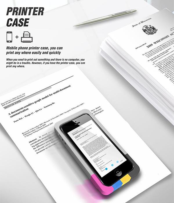 The Ultimate Mobile Printer | Yanko Design