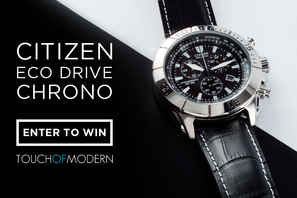Giveaway: Five Days, Five Watches with Touch Of Modern - Today is The Citizen Eco Drive Chrono Watch