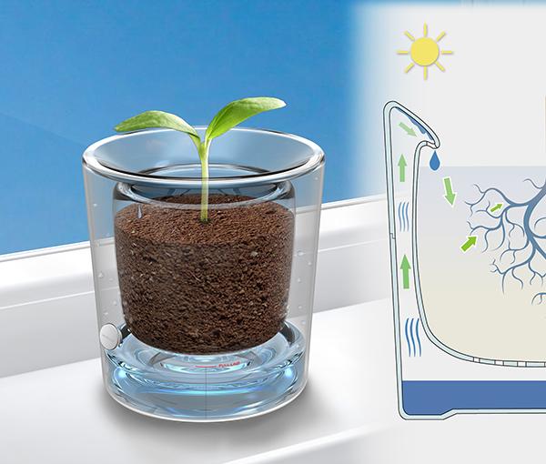 Water Recycling Flowerpot by JiaChen Du, YangHan Wang, WenZai Ye