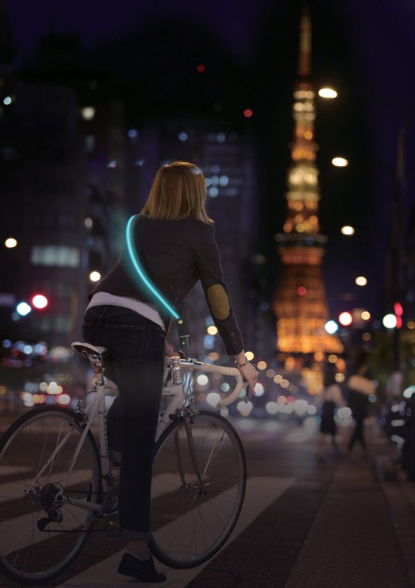 City Firefly Bicycle Chain Lock System by Takeshima Kazuyoshi and Uchima Rosa for TBWA, HAKUHODO