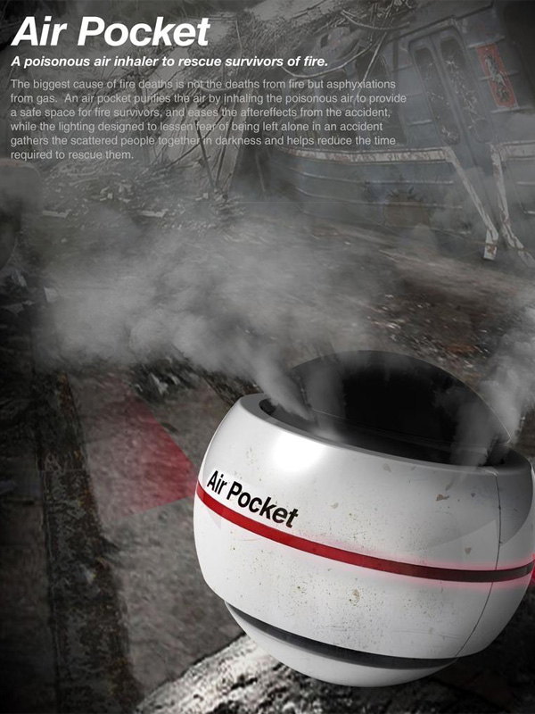 Air Pocket – Air Supply System for Fire Emergency Situations by Seam Lee and Young Jo In