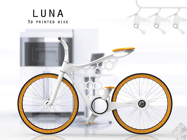 Luna - 3D printed Bicycle by Omer Sagiv