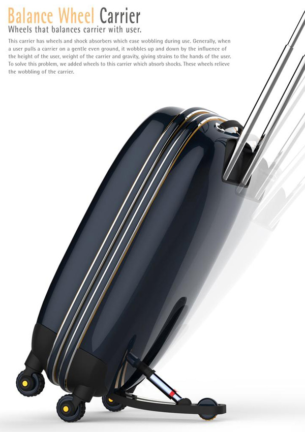Balance Wheel Carrier – Suitcase Redesign by Sung Ha Lim and Hee Kyung Oh